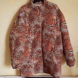 Leopard Print Fluffer Coat